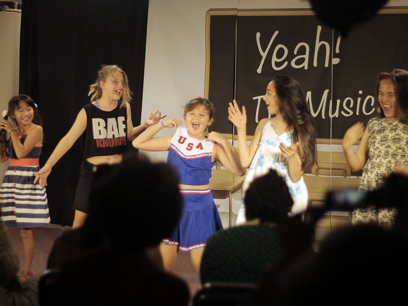kids performing a musical